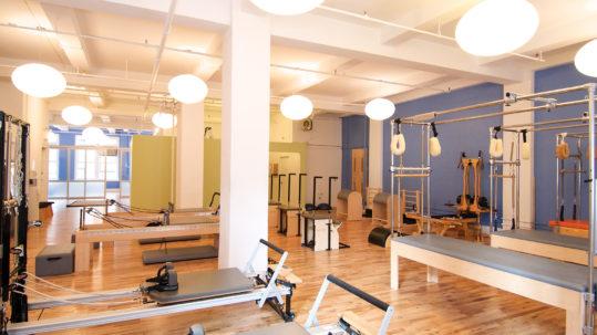 Reformer Pilates classroom